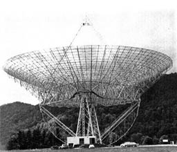 Photo of radio telescope completed in September 1962 at Green Bank, W.Va.