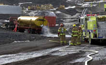McMurdo Fire Department conducts a safety drill.