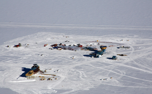 Telescopes used for research at the South Pole