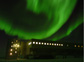 Aurora boralis above the new elevated station at Amundsen-Scott South Pole Station