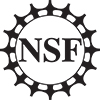 NSF All Black Bitmap Logo