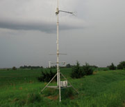 A pole with instruments to measure energy and water flux.