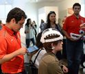 people wearing EEG caps