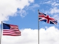 flags of the United States and the United Kingdom