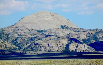 Lankin Dome, one of the research sites, from the south along the Sweetwater River in Wyoming.