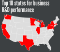 The NCSES report contains business R&D data for all states.