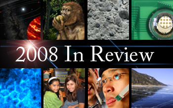 Eight thumbnail images and 2008 in Review