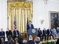 Panorama photo of the President and the National Medal awardees