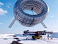 Wind turbine on snow