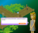 screenshot from the game citizen science showing two characters