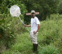Riccardo Papa, of the University of Puerto Rico -- Rio Piedras, in the field.