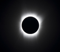 Totality: view of the sun when a total solar eclipse has arrived.