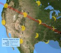 The solar eclipse will be seen throughout the U.S., with