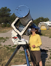 NSF Director observing the sun
