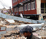 The 2015 earthquake in Nepal resulted in extensive loss of life and property.