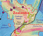 Where were the scientists heading? A map shows the once-lost continent of Zealandia.