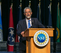 John P. Holdren, assistant to the president for science and technology, met with awardees.