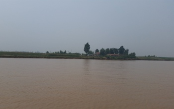 A farm home located on the Yellow River's banks. More than 80 million people live on the floodplain.