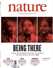 The cover of the Nov. 4, 2010, issue of Nature.