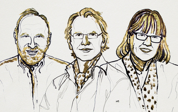 Arthur Ashkin, Gérard Mourou and Donna Strickland, the 2018 Nobel Laureates in Physics.