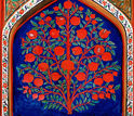 A 17th-century painting of the tree of life in the Palace of Shaki Khans in Azerbaijan.
