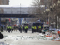 Police on the street in Boston Marathon bombing aftermath