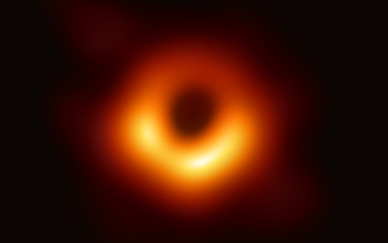Image of a black hole.