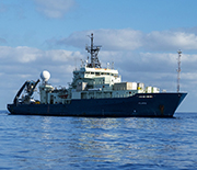 Atlantis is a global class research vessel that supports the human-occupied submersible Alvin.