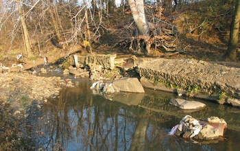 Aging sewer lines and erosion of stream banks contribute to water pollution in cities.