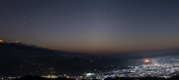 photo of Comet ISON over Pokhara City, Nepal