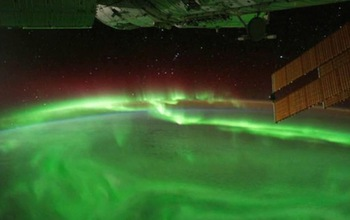 photo of the aurora in green