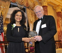 Nadkarni receives the National Science Board Public Service Award from then NSB Chairman.