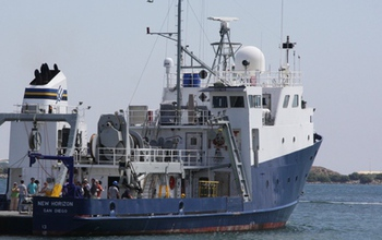 research vessel at sea