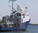 research vessel at sea