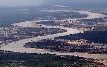 Flood event of Limpopo River in Mozambique, Wikimedia Commons