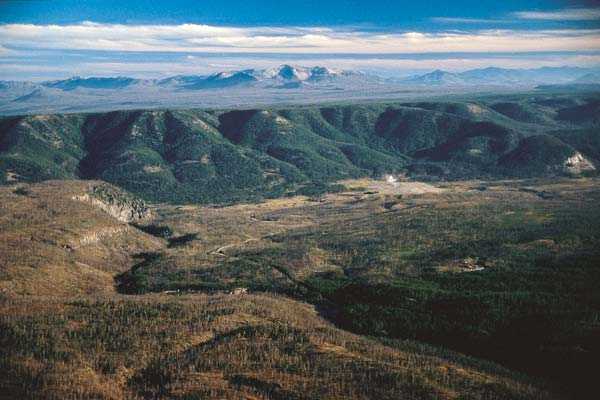 Yellowstone National Park's caldera, a remnant of an ancient volcano, is rising.