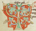 A 12th century portrait of the tree of life in the book Lives of the Saints.
