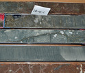 Carbonate or limestone in sediment cores