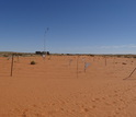 fenced research area in Kalahari