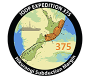 Logo of International Ocean Discovery Program (IODP) Expedition 375.