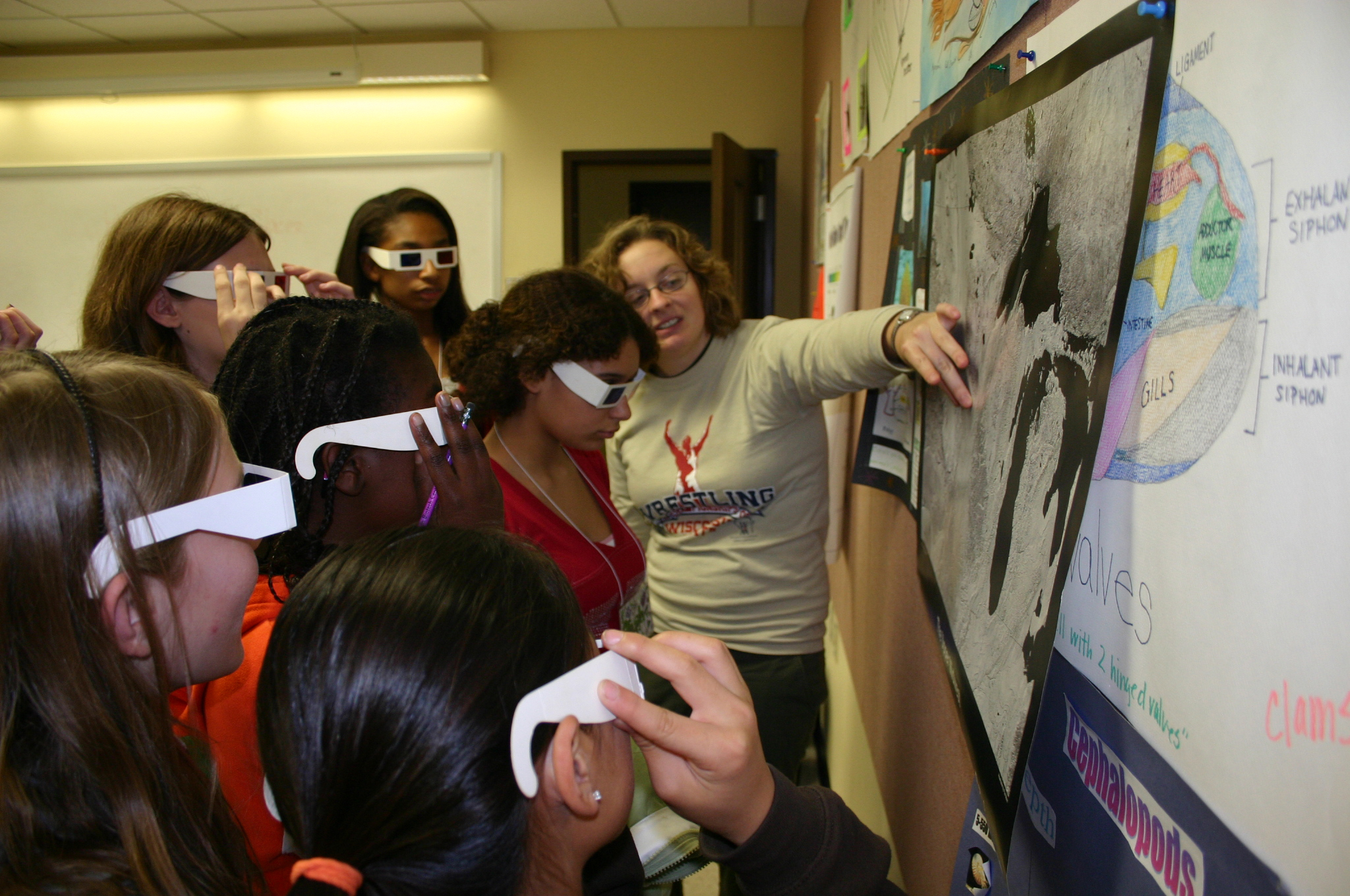 Girls from the Madison, Wisconsin EYH conference see science from a different perspective!