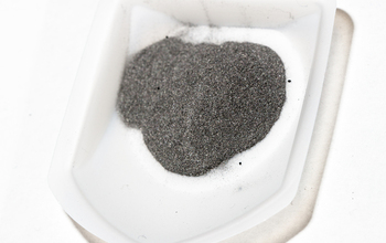 a sample of charged iron in a recipient