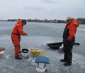 Even in winter, scientists are out taking samples at the NSF LTER site on Wisconsin lakes.
