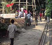 Drilling of deep well (500-1,000 feet) in Bangladesh.