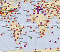 The Global Seismic Network provides information on seismic activity around the world.