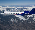 The NSF/NCAR Gulfstream V in flight.
