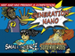 Comic showing three superheroes with text Generation Nano Small science, Superheroes