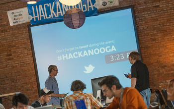 participants in a room at the Chatanooga hackaton