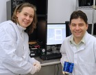 Image of photovoltaic researchers Christiana Honsberg and Stuart Bowden of Arizona State University.