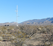 Instruments track rainfall and other variables at the Jornada LTER site.